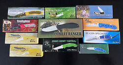 Lot Of 11 New Old Stock Frost Cutlery Pocket Knives, Tactical, Camping