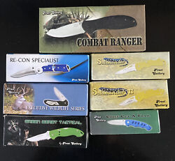 Lot Of 7 New Old Stock Frost Cutlery Pocket Knives, Tactical, Camping