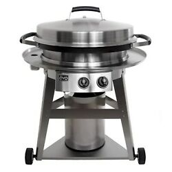Evo Professional Wheeled Cart With Seasoned Cook Surface - Propane Griddle