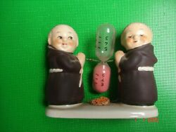 Vintage Goebel W. Germany Monk Friars With Hourglass Figurine Kitchen Timer