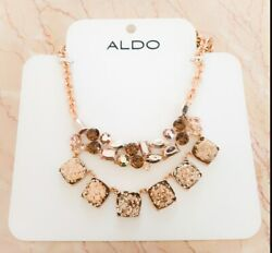 Aldo Jewled Statement Necklace. 16andrdquo Adjustable New With Tags Free Shipping