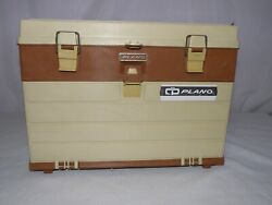 Vintage Plano 757 4 Drawer Fishing Tackle Tool Box With Top Storage