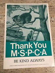 Vintage Lithograph Poster American Humane Society Mass. S.p.c.a. Andldquocat In Treeandrdquo