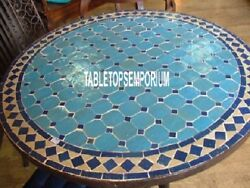 42and039and039 Marble Dining Table Top Turquoise Stone Inlaid Garden Art Mosaic Home Decor