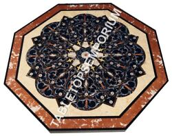 36 Marble Outdoor Dining Table Top Marquetry Inlay Living Room Decor H5674a