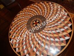 48 Marvelous Marble Restaurant Round Table Top Inlay Mosaic Patio Decor E635a