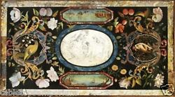 4and039x2.5and039 Marble Dining Room Table Pietra Dura Birds Inlay Home Furniture Decor