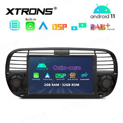 7 Android 10 2+32gb Car Gps Radio Stereo Dsp Car Auto Play For Fiat 500 2007-15