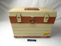 Vintage Plano 757 Fishing Tackle Box Top Storage With 4 Drawers Usa Used