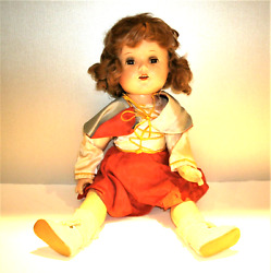 Rare Antique 1930's Shirley Temple Doll Composition 17 Original Clothing