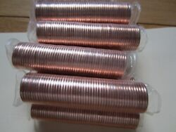 Roll Of 2010 Canada Small Cents 50 Coins Red Unc. Mint Penny Roll
