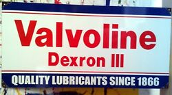 Valvoline Dexron Iii Enamel Sign Reproduction Made To Order 194