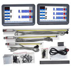 2/3axis Dro Digital Readout Touch Screen Ttl Linear Glass Scale 100-2000mm Lathe