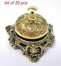 Antique Vintage Brass Nautical Ornate Desk Bell Call Bell Reception Ringbell