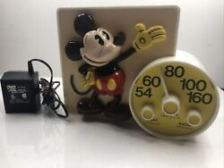 Vintage Concept 2000 Mickey Mouse Radio Model 402 Tested Works Nite Lite