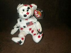 Rare Ty Glory Beanie Baby With Numbered Tush Tag And Tag Errors