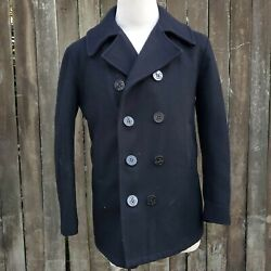 Disney World Cast Member Wool Pea Coat Mens 40 Double Breasted Wilderness Lodge