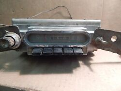 Vintage 40's 50's Ford/mercury American Deluxe Push Button 12 Volt Car Radio