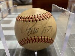 Willie Mays Giants Autographed Giles Vintage Baseball Psa Certified Ai63955 Mlb