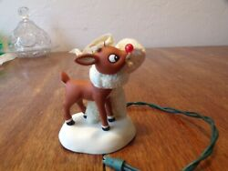 I Would Even Say It Glows Dept 56 Snowbabies Rudolph The Red Nosed Reindeer