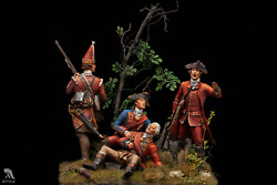 Braddock Defeated At French And Indian War Painted Miniature Pre-sale | Art