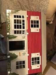 Vintage Marx Toys Tin Metal Litho Dollhouse 50and039s Colonial 2 Story Good Condi