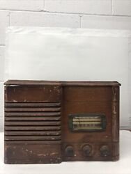 Vintage Sears Roebuck Silvertone Wood Tube Record Player Parts Only