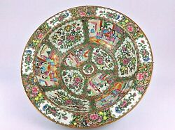 Large Antique Chinese 19th Qing Charger Platter Famille Rose Canton Medallion