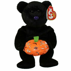 TY Beanie Baby HAUNTING the Halloween Bear 8.5quot;...NEW $14.50