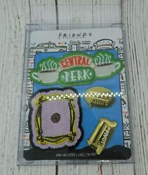 Friends Tv Show Central Perk Frame Pivot Couch Lapel Pin And Iron On Patch Set New
