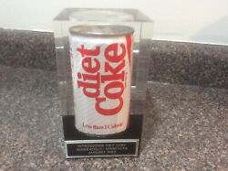 Rare Vintage1983 Introducing Diet Coke Can Display Lucite Minneapolis, Mn