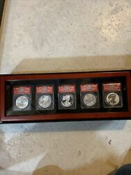 2013 First Release West Point 25th Anniversary Silver Eagle 5 Coin Set 203/287
