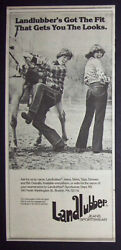 Landlubber Jeans 1977 Small Poster Type Advert, Promo Ad 2