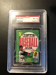 1962 Topps Baseball Unopened Wax Pack Graded Psa 8 Nm-mt Unknown Series Rare