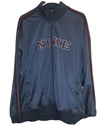 Nike Vintage 90's Grey Tag Spell Out Large Letters Track Jacket Men's Size Xxl