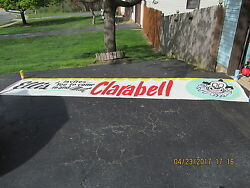 Clarabell Banner Of Howdy Doody Fame 16 And039 Canvas 50s Appearance At Ellis Store