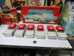 Vip Airport Service Cars Set Of 6 In Box Air Canada Series Friction Japan Rare