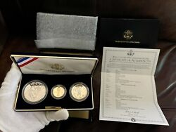 1994 Proof Set 3-coin 1/4 Oz Gold-5 1-silver-dollar 50c World Cup Comm Usa W45
