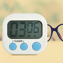 Large Digital LCD Kitchen Cooking Timer Magnetic Count Down Up Loud Clock Alarm