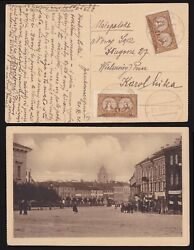 Central Lithuania Poland 1921 Postcard Nowo Swieciany Genuine + Certificate