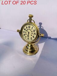 Vintage Brass Table Top Decor Clock With Stand Nautical Beautiful Collectibles