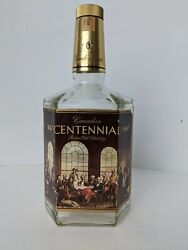 Gooderham's And Worts Canadian Rare Old Whiskey Bottle Centennial Hexagon Shaped