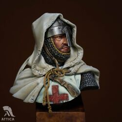 Crusader Knight Templar Resin Painted Toy Soldier Bust   Museum