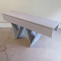 Mid Century Italian Modern W-shaped Expanding Console Table