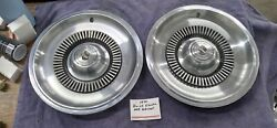 Vintage 1970 Buick 225 Electra 15 Hubcaps Pair Of 2