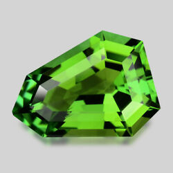 6.65cts Amazing Custom Cut Natural Forest Green Tourmaline Video In Description