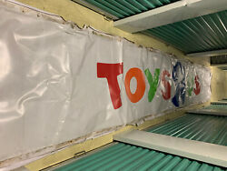Toys R Us Highway Sign 30 Feet Long Vinyl For Wrap Around Style Sign.