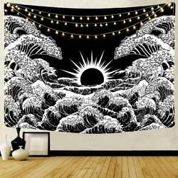 Art Tapestries Wall Hanging Sea Wave Tapestry For Bedroom Dorm Decor Bedspread