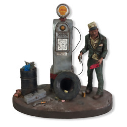 1980 Michael Garman Sculpture The Good Oland039 Days Gas Service Station Hand Painted