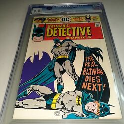 Detective Comics 458 Cgc 9.8 - Ernie Chan Cover - Man Bat Story - Ow To W Pages